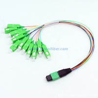 8/12/24cores MTP male-LC/SC/FC/ST Fan-out 0.9mm 35cm patch cable for MTP LGX module