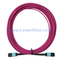MTP Female to Female 12 Fibers OM4 50/125 Multimode Trunk Cable, Polarity B, Elite, Plenum (OFNP) Bunch