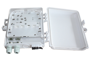 1*8 FTTH Outdoor Optical Fiber Distribution Box / Cable Terminal Box