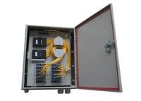 Cold rolled steel Fiber Optic Distribution Box with 1×64 PLC SC / APC